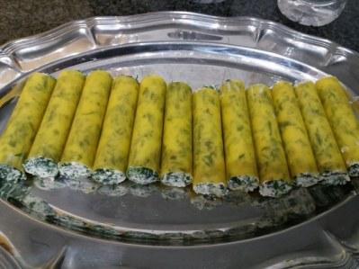 Cannelloni ripieni di ricotta e minestra maritata con besciamella alla zucca 14