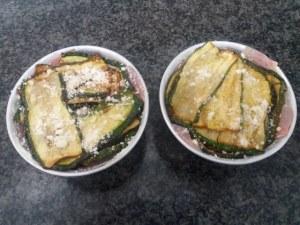 Parmigiana con filetti di triglia e zucchine