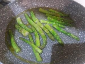 risotto alla carbonara con asparagi