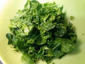 Risotto profumato al limone con spinaci e fasulare