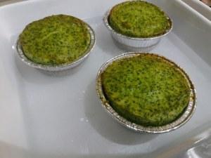 Flan di broccoli con porro e polpo fritti