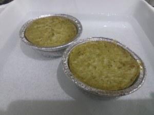 Flan di carciofi e baccala con crema di parmigiano