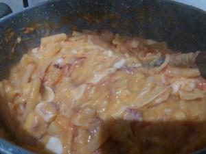 Pasta e patate con polpo verace