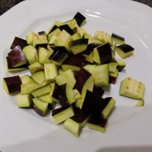 Totano imbottito alle melanzane su crema di burrata pugliese
