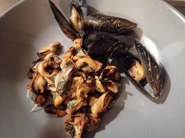 Pizzoccheri di mare con gamberi cozze e totani
